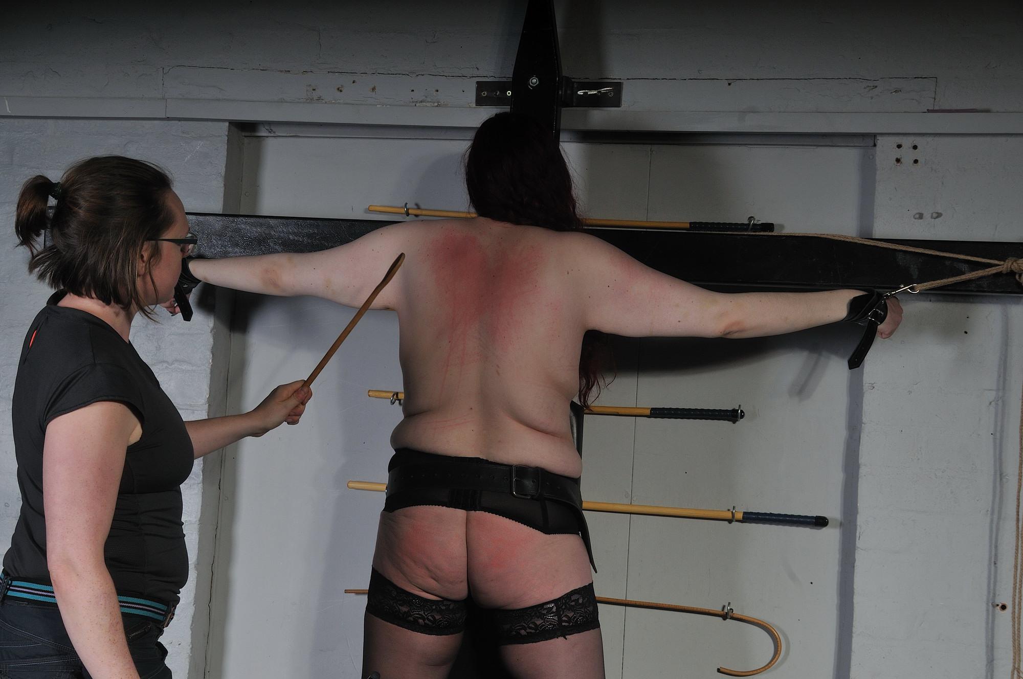 Chubby lesbian bondage