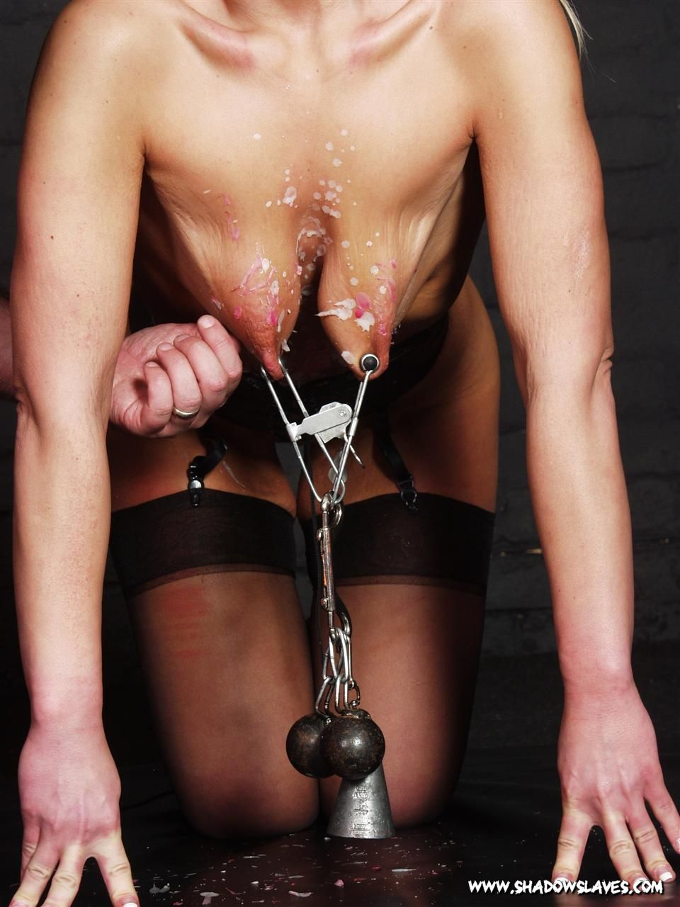 Hardcore slave hot waxed and cold ice cubes pained 6