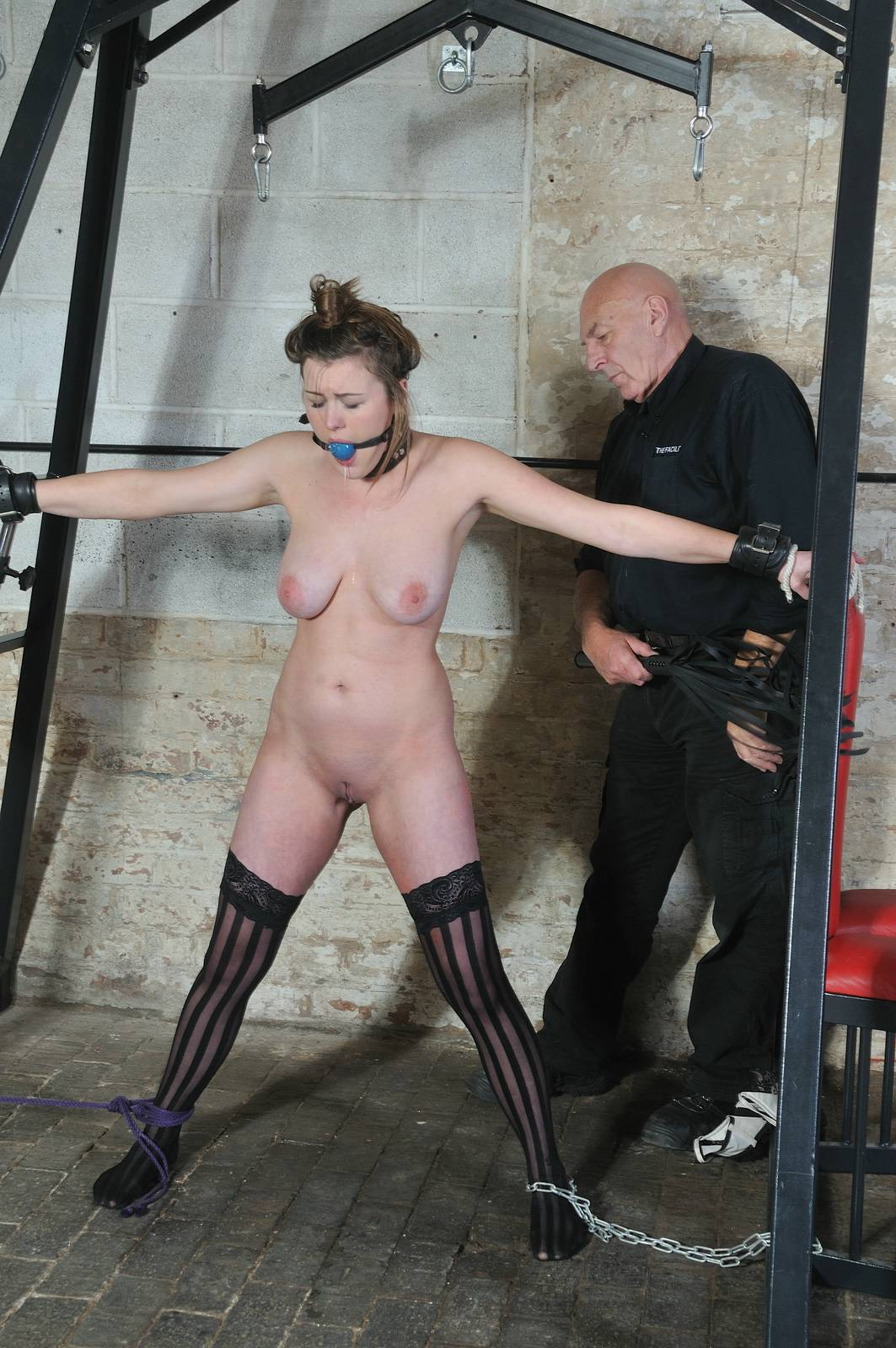 image Blonde slave taylor hearts tit torments and kinky bondage of punished submi