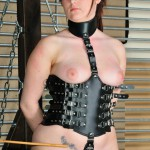 leather slave girl