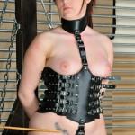 leather slave girl