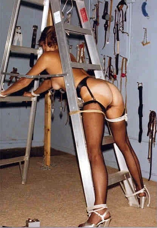 Vintage retro bondage girls