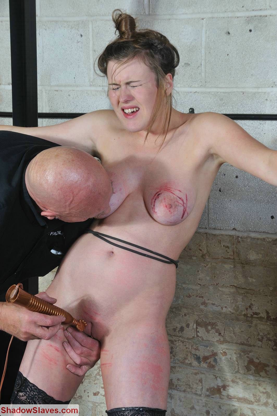 Male slave public humiliation