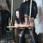 Submissive slavesex of Faye Corbin. The masochist is fucked in bondage. Taken through hardcore sex and submission in dungeon whilst dominated, fucked and spanked