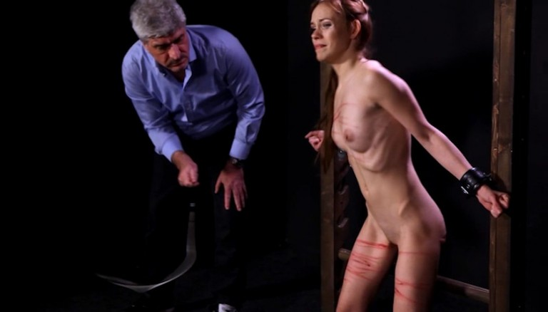 Bdsm Pain Whipping Crying Man