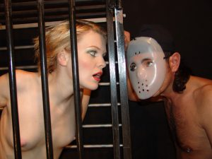Kinky Patricias Caged Blowjob