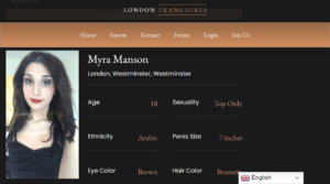 BDSM sessions with Mistress trans escorts